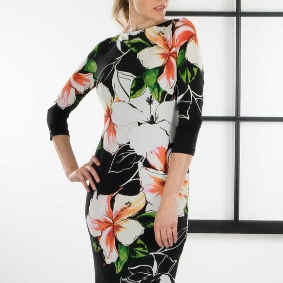 232080a4f4f Joseph Ribkoff Dresses & Skirts - Joseph Ribkoff Floral Jersey Shift Dress
